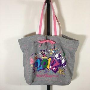 Walt Disney World Parks Gray Tote Bag Mickey Mouse